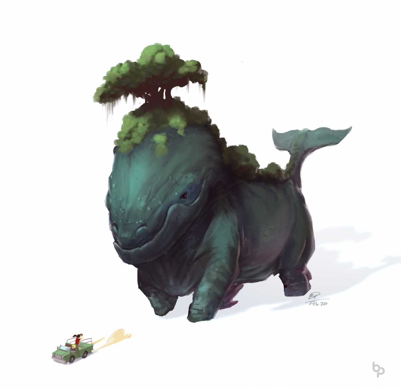 The majestic land whale.  A creature 2h concept.