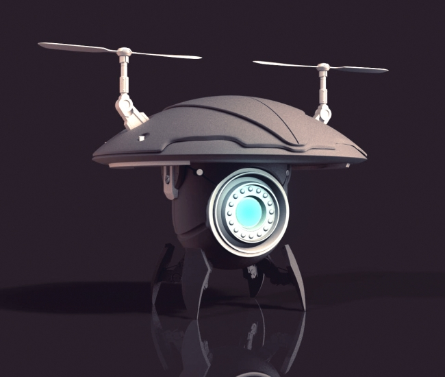 Zbrush Drone Model 3d